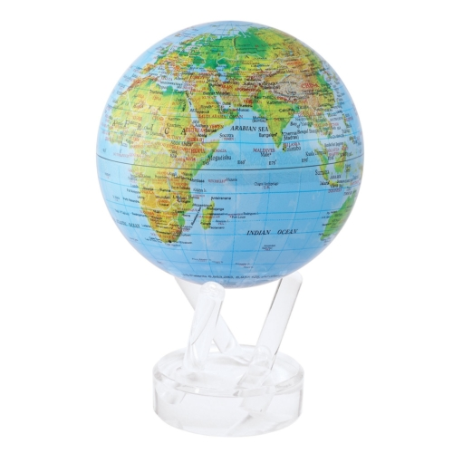 RELIEF MAP BLUE GLOSS FINISH MOVA GLOBE 4.5""