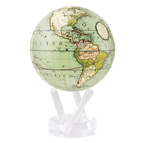 ANTIQUE TERRESTRIAL GREEN MOVA GLOBE 4.5""