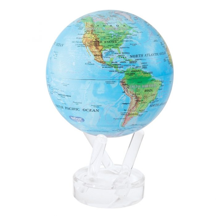 "RELIEF MAP BLUE MOVA GLOBE 6"""