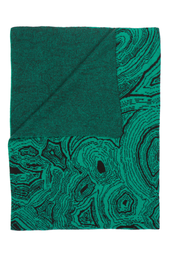 Saved NY-MALACHITE-Cashmere Throw