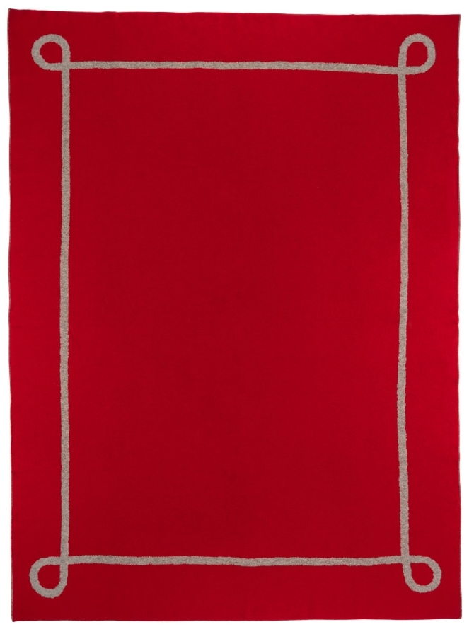Saved NY-CRIMSON BLANKET-Cashmere Throw