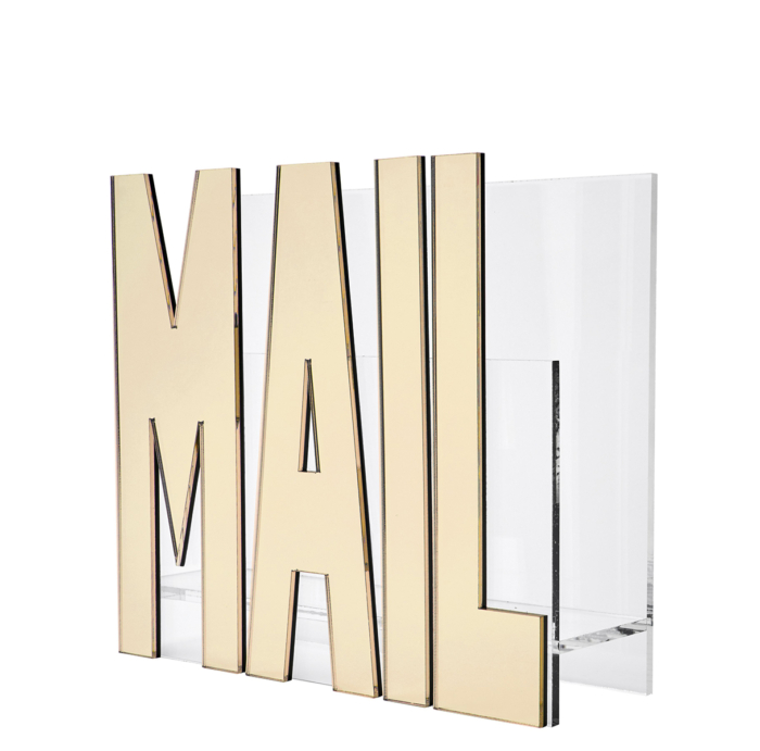 Tara Wilson Designs-Mail Holder - Gold Mirror