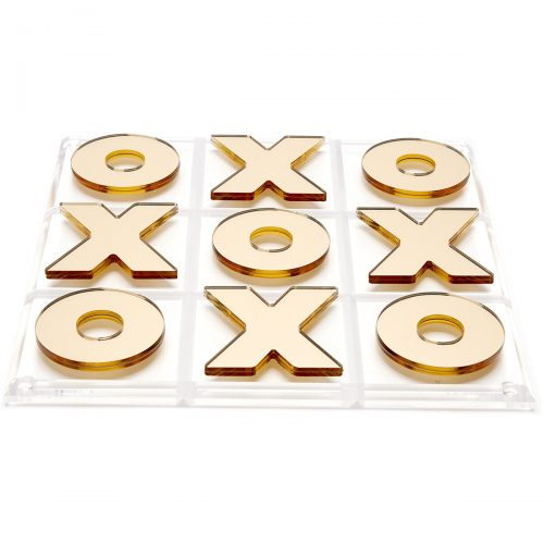 Tara Wilson Designs-Tic tac toe - silver mirror X and O's-Gold
