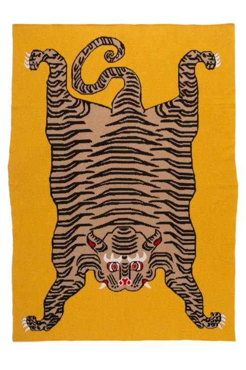 Saved NY-TIGER RUG-Cashmere Throw