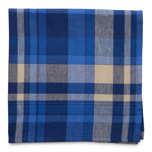 Deborah Rhodes Napkin TONAL PLAID Wine Blue