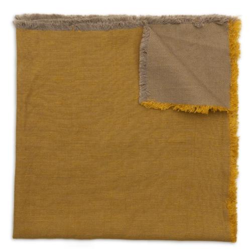 Deborah Rhodes Napkin WASHED FRINGE Mustard