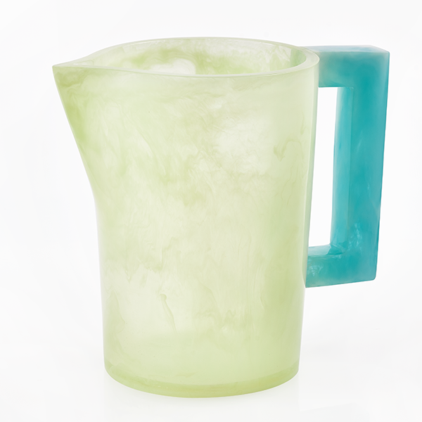 Lily Juliet Pitcher Celadon With Blue Handle