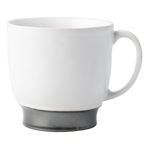 JULISKA PEWTER STONEWARE Emerson White/Pewter Cofftea Cup