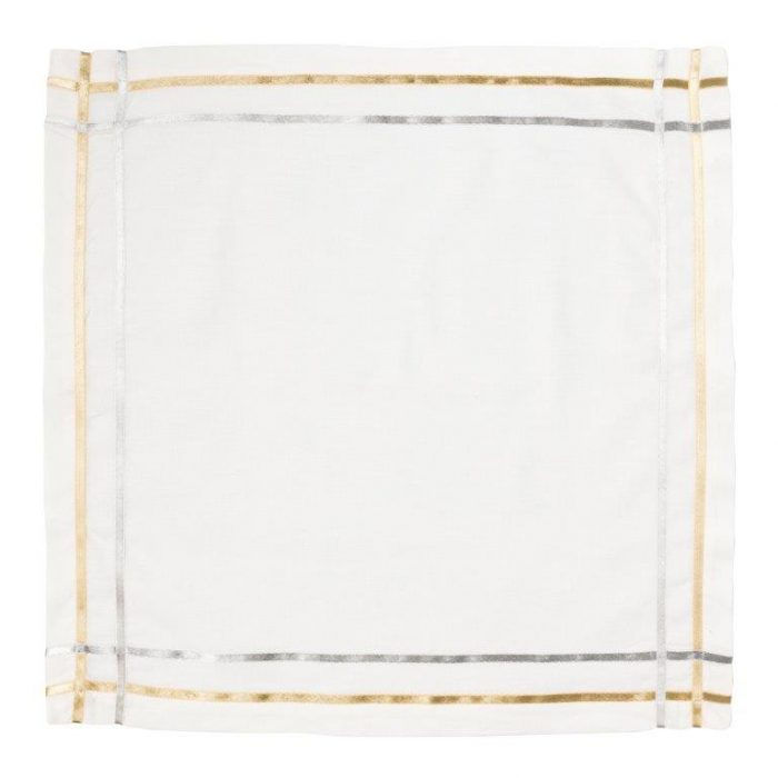 Juliska Metallic Ribbon Lattice Napkin