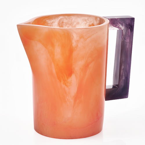 Lily Juliet Pitcher Orange With Violet Handle