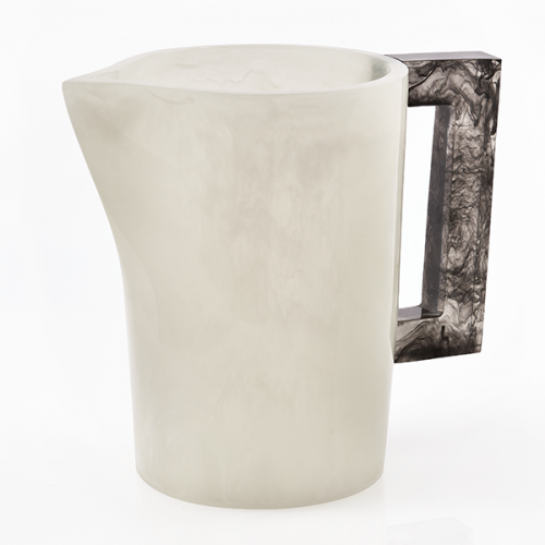 Lily Juliet Pitcher White With Charcoal Handle