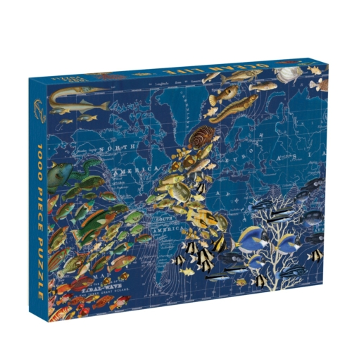 Galison Puzzle-Wendy Gold Ocean Life 1000 Piece