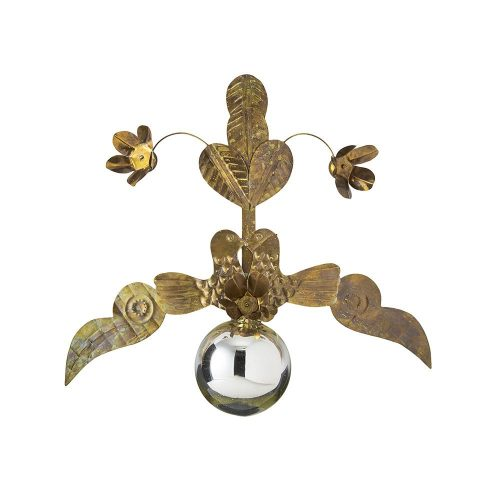 JAN BARBOGLIO DOS PALOMAS BRASS ORNAMENT