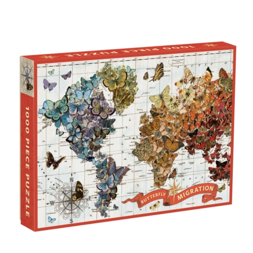 Galison Puzzle-Wendy Gold Butterfly Migration 1000 Piece