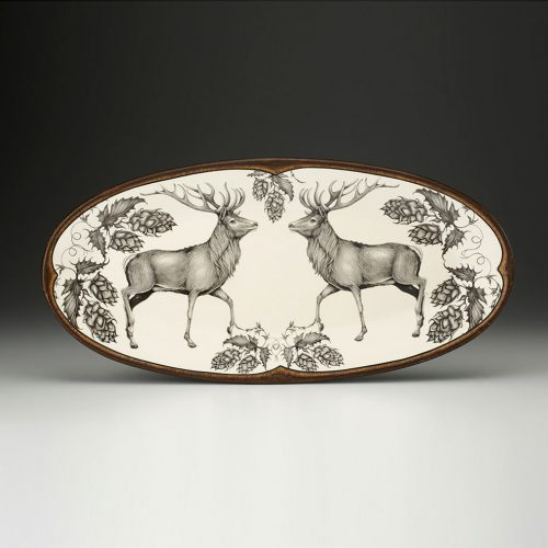 Laura Zindel Fish Platter: Red Buck