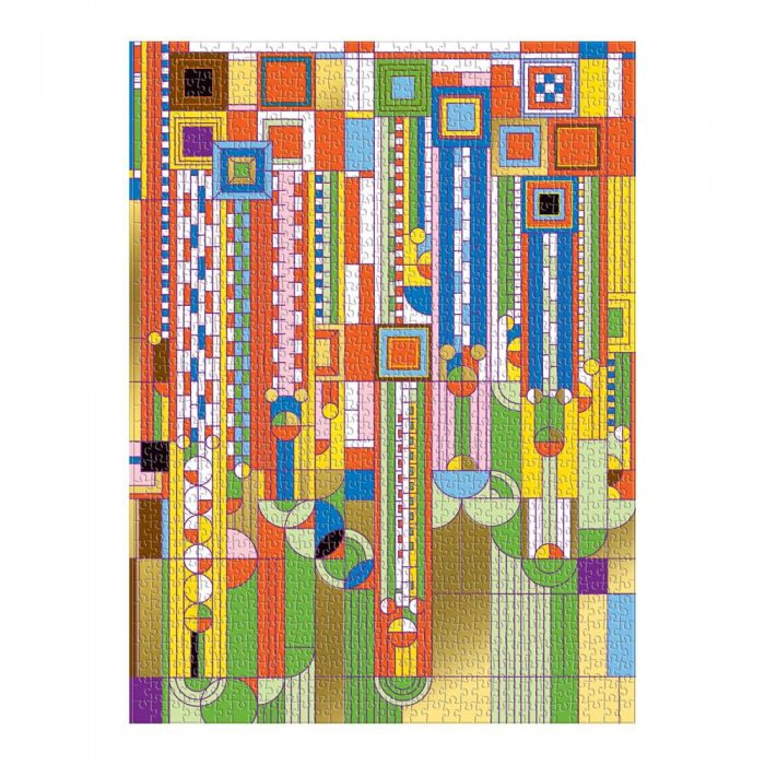 Galison Puzzle-Frank Lloyd Wright Saguaro Cactus And Forms Foil Stamped 1000 Piece