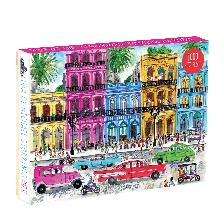 Galison Puzzle-Michael Storrings Cuba 1000 Piece