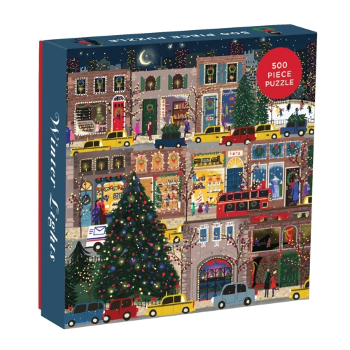 Galison Puzzle-Winter Lights 500 Piece
