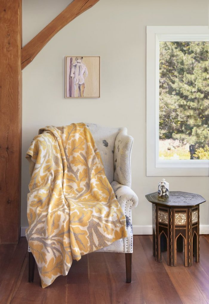 Saved NY-OAK LEAF-Cashmere Throw