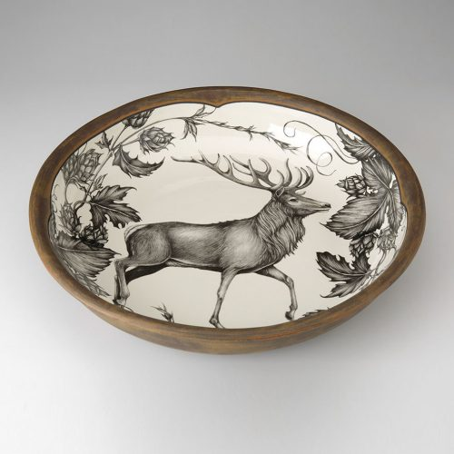 Laura Zindel Small Pasta Bowl: Red Buck