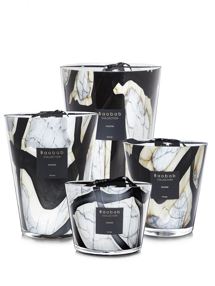 Baobab Candle Collection-RACINE - MARBLE - 13.8″