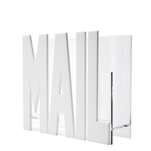 Mail Holder - White Mirror