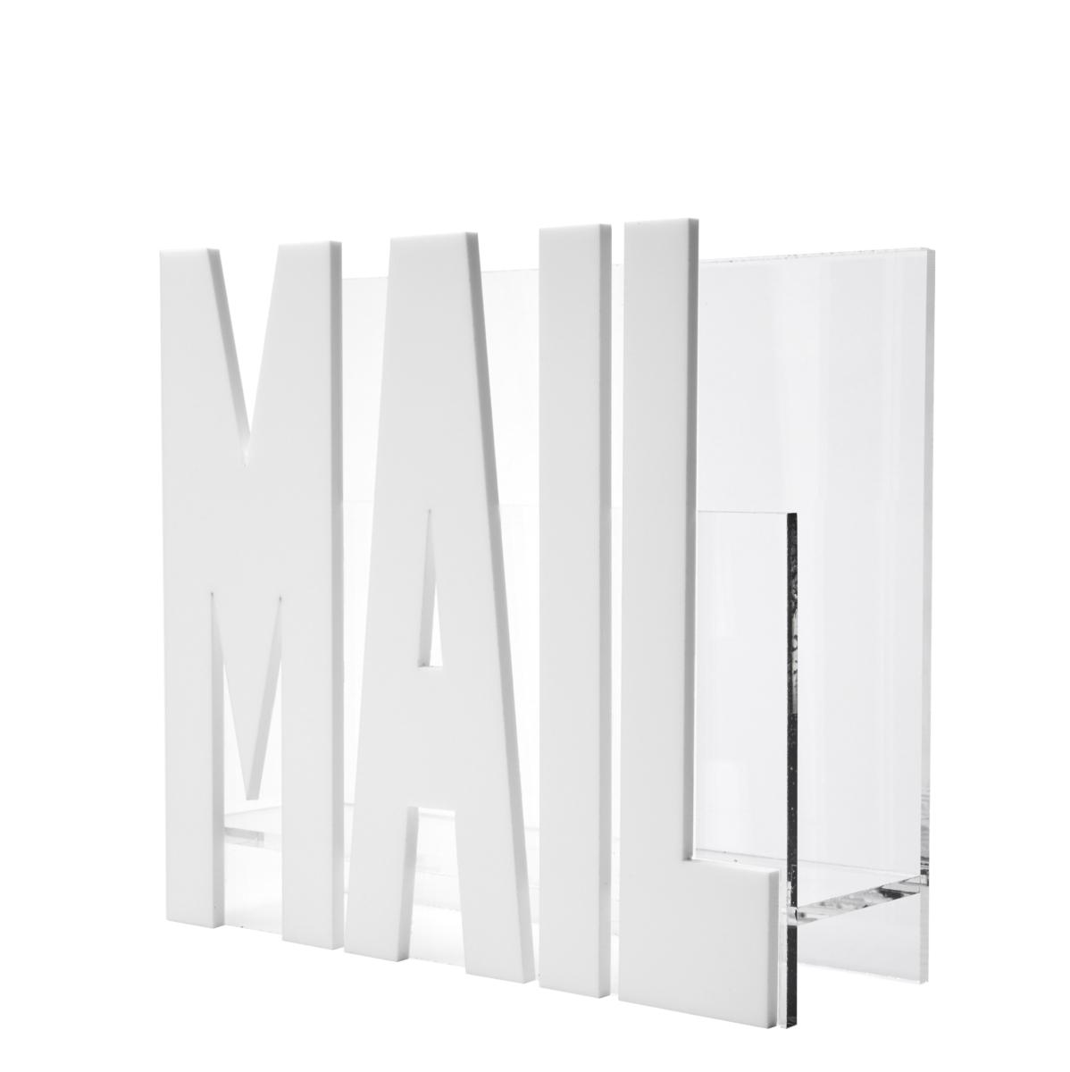 Mail Holder - White Mirror