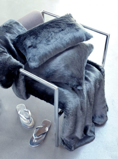 Evelyne Prelonge Faux Fur Throw-Anthacite