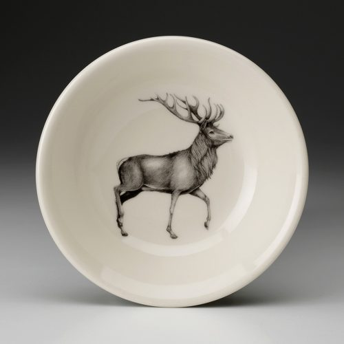 Laura Zindel Sauce Bowl: Red Buck Deer