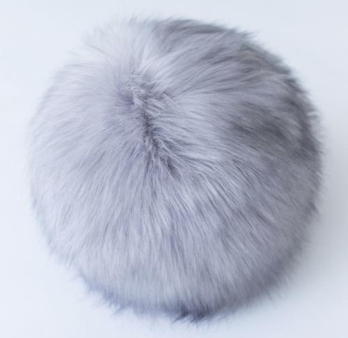 """Evelyne Prelonge Faux Fur Snowball 16"""" - Pearl"""