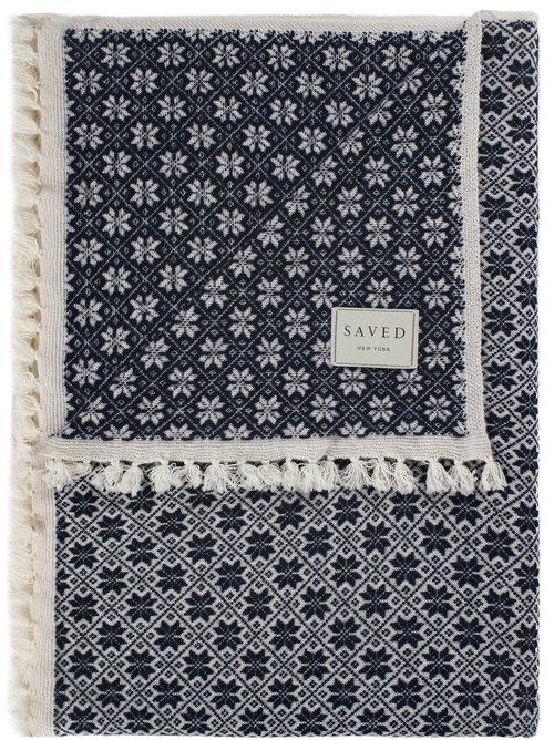 Saved NY-SNOWFLAKES-Cashmere Throw