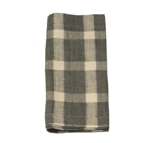 Tina Chen Designs Napkin Grey and Beige Check
