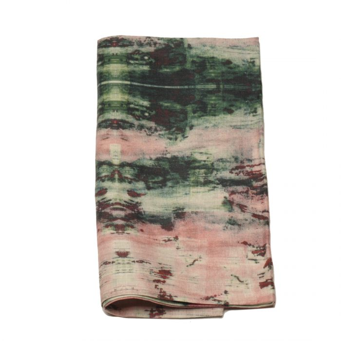 Tina Chen Designs Napkin Pink and Green Paint