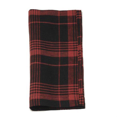 Tina Chen Designs Napkin Red Black Plaid