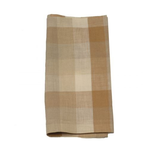 Tina Chen Designs Napkin Tan and Rust Check