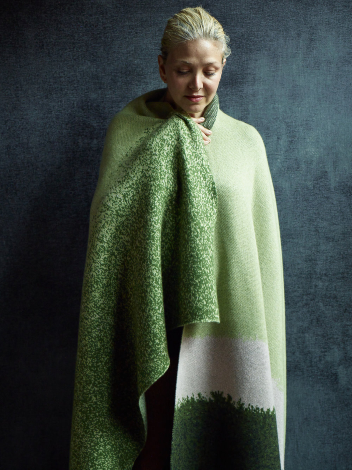 Saved NY-Painted Landscape-Cashmere Throw