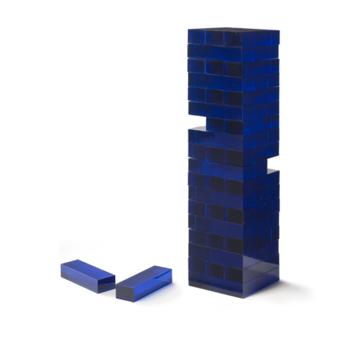 Aurosi Blue Acrylic Tumble Tower Set