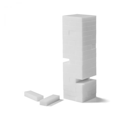 Aurosi White Acrylic Tumble Tower Set