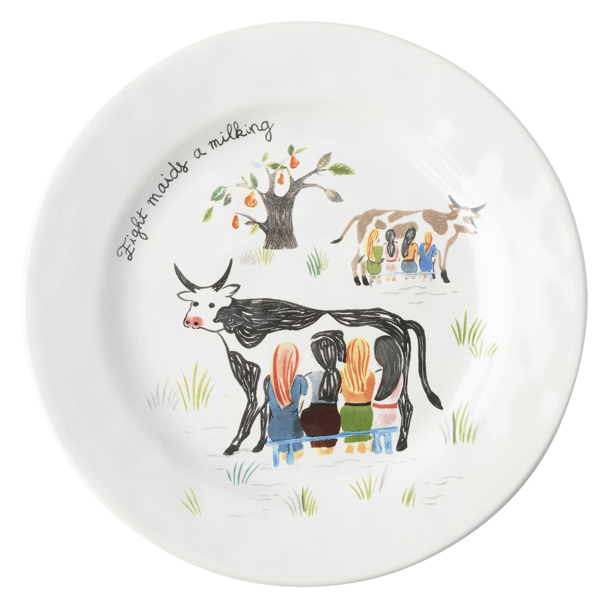Juliska Twelve Days of Christmas Dessert/Salad Plate Set/12