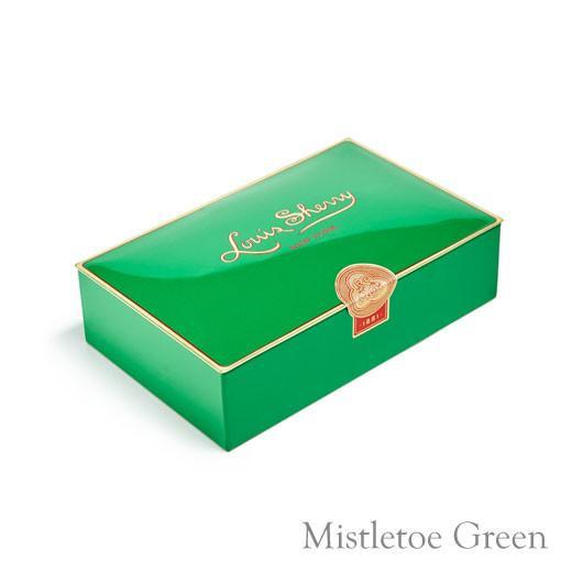Louis Sherry Chocolates-Mistletoe Green-2-Piece Tin