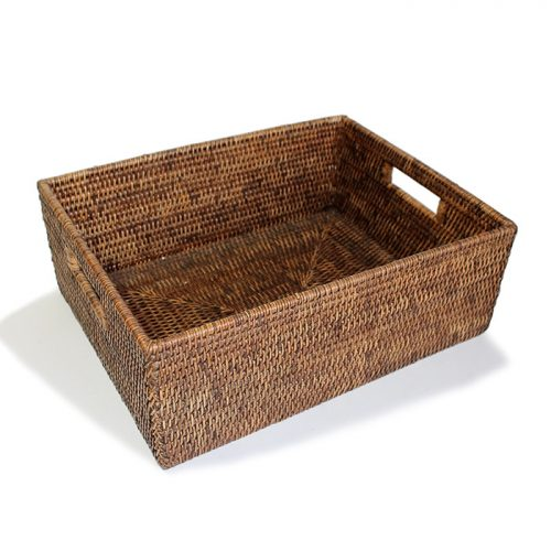 Matahari Rattan Rectangular Everything Basket