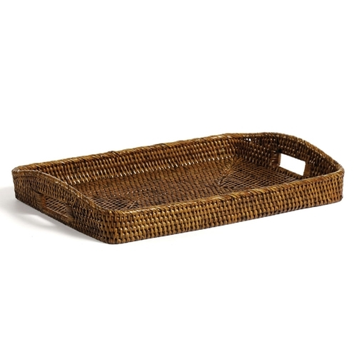 Matahari Rattan Large Rectangular Morning Tray