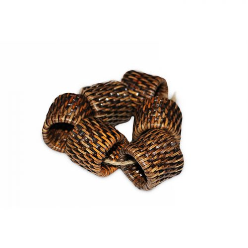 Matahari Rattan Round Napkin Ring Set of 6