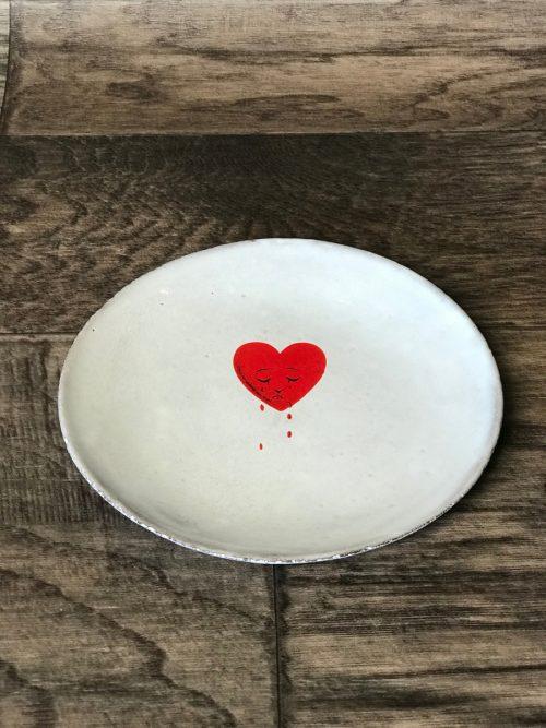 ASTIER DE VILLATTE John Derian Crying Heart Saucer