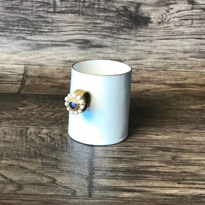 ASTIER DE VILLATTE Serena Blue Iris Ring Mug