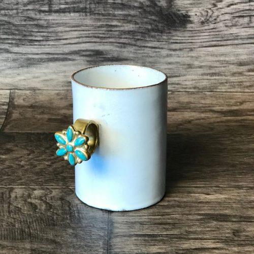 ASTIER DE VILLATTE Serena Blue Flower Ring Mug