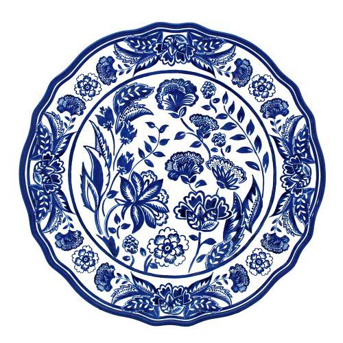 """Le Cadeaux-Jardin Blue Dinner Plate 11"""""""