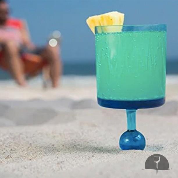 The Beach Glass-Carribean Cerulean Seas-Acrylic Outdoor Drinkware