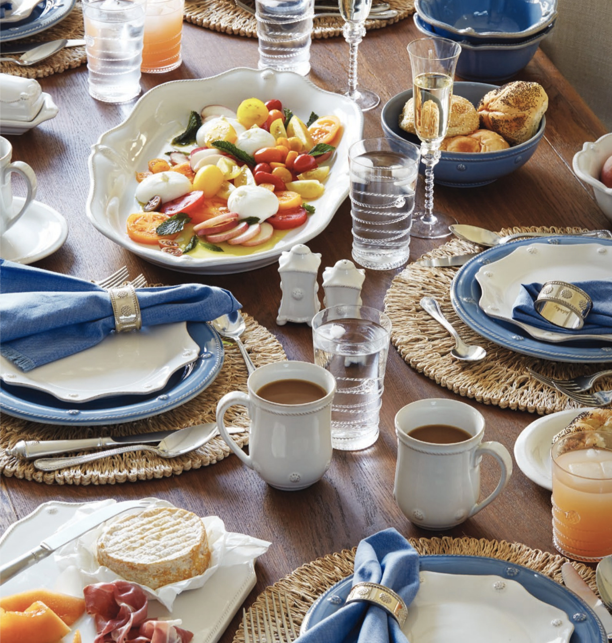 JULISKA Berry & Thread Chambray dinnerware