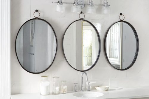 Europe 2 You-Black Oval Bardot Mirror